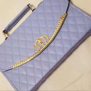 Handbags - Periwinkle blue quilted leather handbag